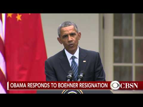 Obama surprised by John Boehner's resignation from Congress