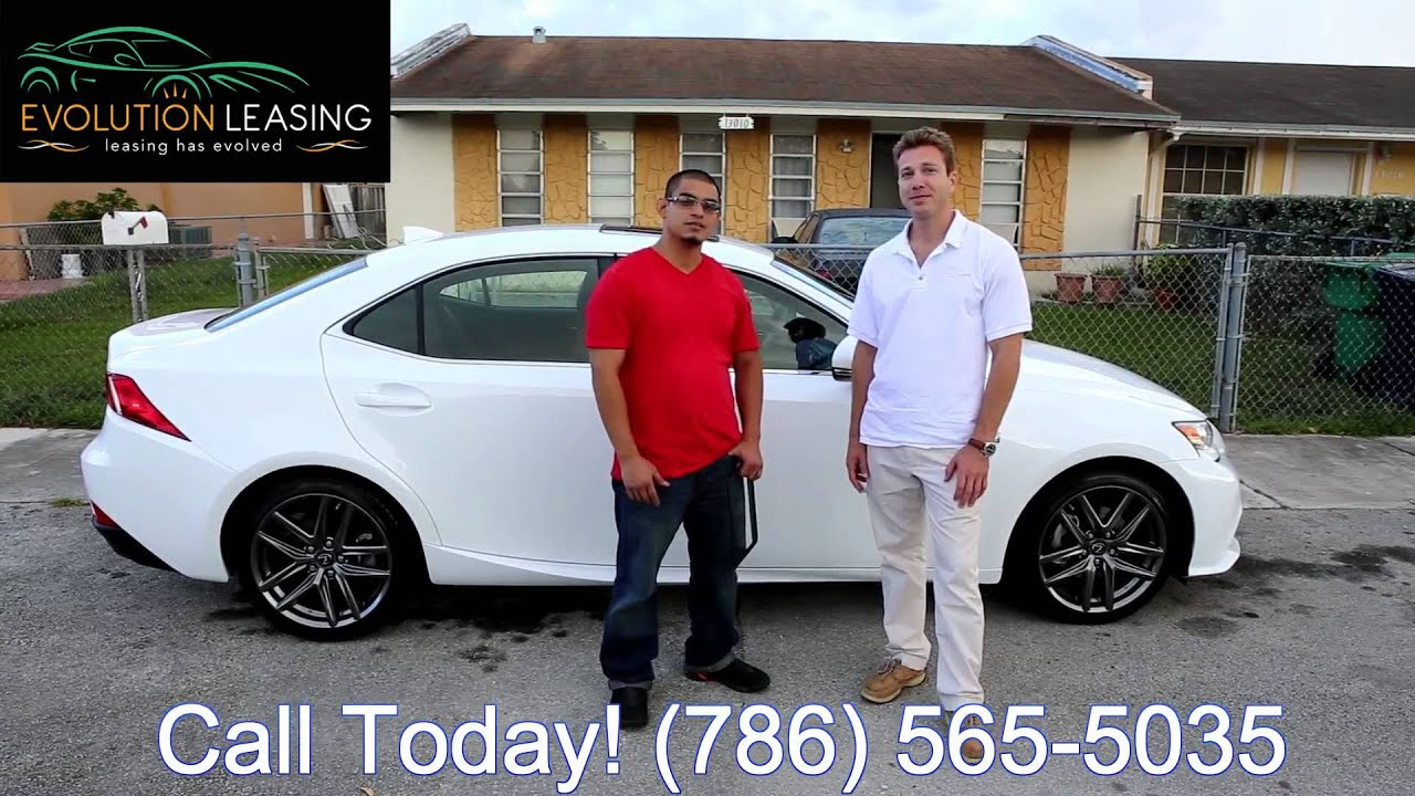 White On Red Lexus IS F Sport Delivery Evolution Leasing - Lexus miami lease