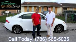 White on Red Lexus IS250 F Sport Delivery |Evolution Leasing |Lease Lexus Miami