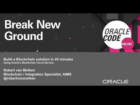 Building a decentralized Blockchain application with Oracle's Blockchain Cloud Service