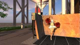 Second Life - Next Generation - Shadows - Steffy dances in a Northern Germany agriculture