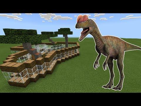 How To Make a DILOPHOSAURUS Farm in Minecraft PE