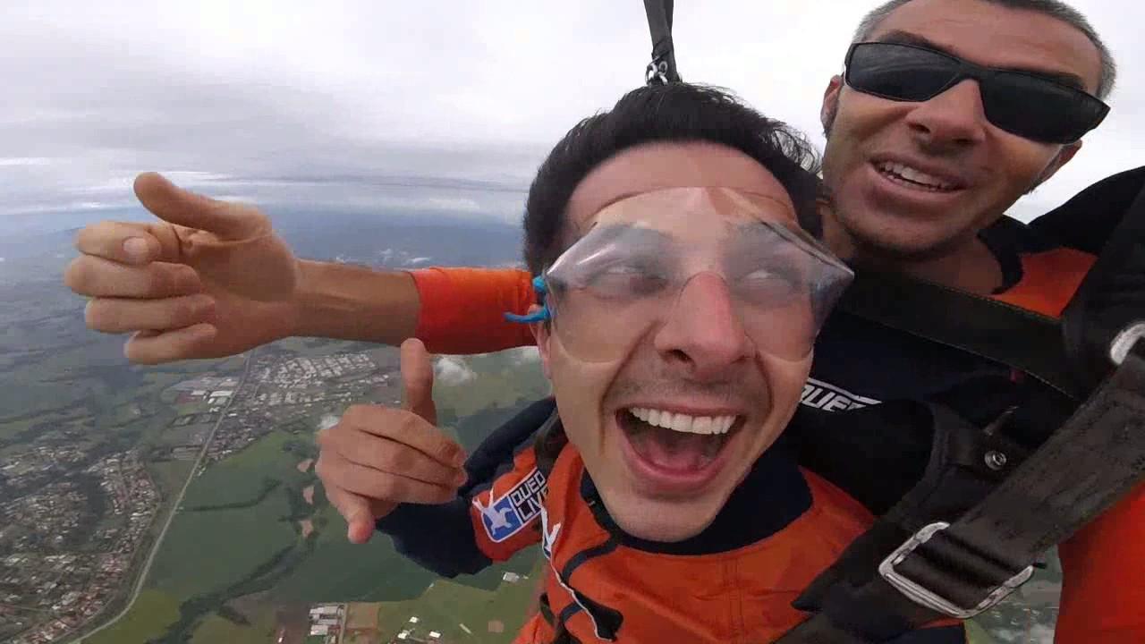 Salto de Paraquedas do Eduardo M na Queda Livre Paraquedismo 21 01 2017