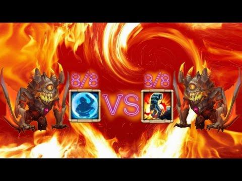 Castle Clash 8 Stone Skin Ghoulem VS 8 Bulwark Ghoulem