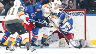 Lundqvist Steals Rangers a Point vs. Knights: Highlights & Analysis