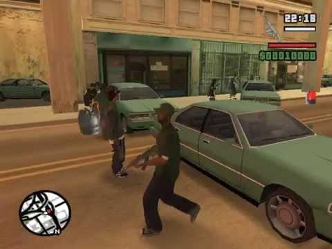 gta san andreas stories grove mission the gang war