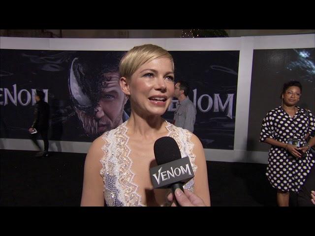 Venom: Michelle Williams Anne Weying Red Carpet Movie Premiere Interview