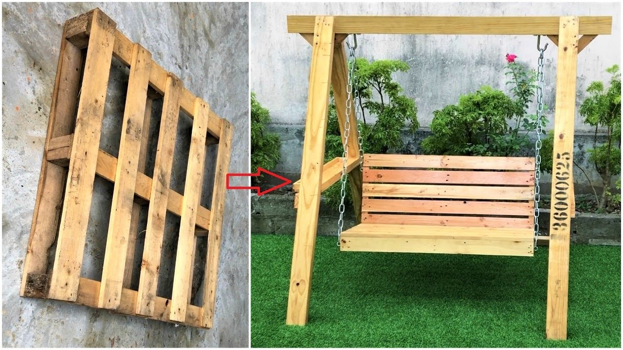 Woodworking Projects Old Pallets // Ideas Making Outdoor Swing For Your Garden