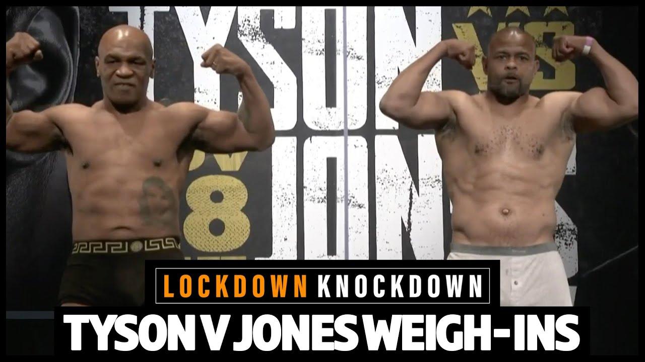 Download Full Mike Tyson v Roy Jones Jr weigh-ins show, plus Dubois v Joyce preview