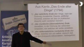 Prof. Gilmanov: Regionale Ideengeschichte: Reformation, Kant, Untergang Königsbergs, mod. Weltkrise