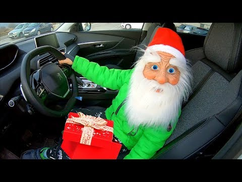 Santa Claus Surprises Parents with Christmas Presents | Santa driving in my car