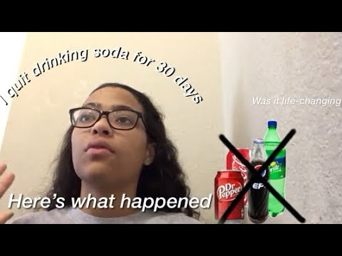 I quit drinking soda for 30 days, here's what happened