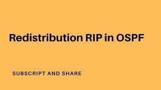 Route redistribution rip in OSPF(farsi)
