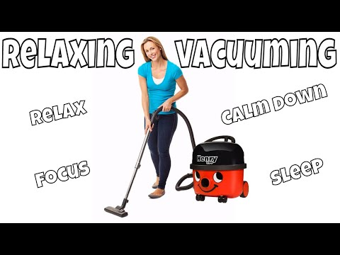 WOMAN VACUUMING CARPET ~ Numatic Vacuum Cleaner Demonstration ~ VACUUMING WHITE SOUND for FUSSY BABY