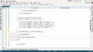 Con la función GroupBy de LINQ podemos agrupar elementos de una col...