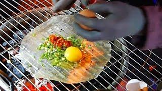 Vietnam Street Food - Vietnamese Pizza / Bánh Tráng Nướng Dalat