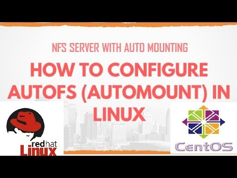 How to configure nfs server with auto mounting (autofs) in centos / redhat  / fedora
