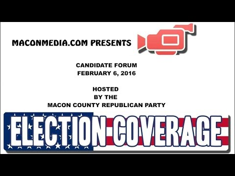 MCGOP Candidate Forum 02-06-2016 Full