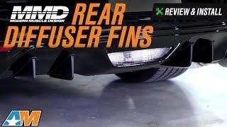 2015-2017 Mustang GT, EcoBoost, V6 MMD Rear Diffuser Fins Review & Install
