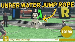 I Did The Jump Rope Challenge UNDERWATER!
