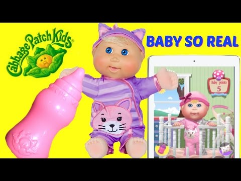 Cabbage Patch Kids Baby So Real Life Like Baby Doll! Feed and Change Diaper