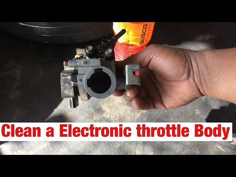 how to Clean a Electronic Throttle Body at home
