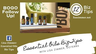 BOGO Follow up...  doTERRA Business Training with Blue Diamond Wellness Advocate Lisa Zimmer.