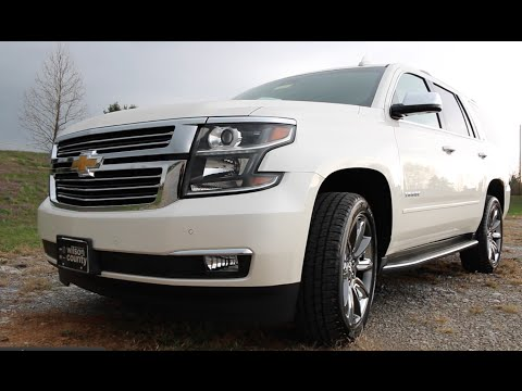 "2015 CHEVROLET TAHOE LTZ 4X4 22""S WHITE DIAMOND FOR SALE Www.WilsonCountyMotors.com 855-507-8520"
