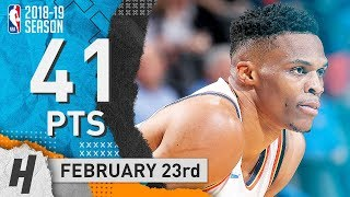 Russell Westbrook Full Highlights Thunder vs Kings 2019.02.23 - 41 Points, 10 Reb