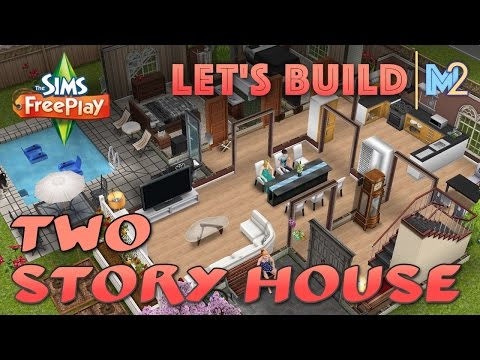 Sims FreePlay – Let's Build Another 2-Story House (Live Build Tutorial)