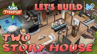 Sims Freeplay - Let's Build Another 2-story House (live Build Original House Design)