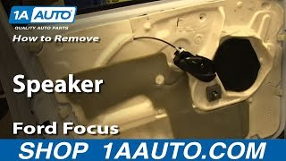How To Install Remove Speaker Ford Focus 4 Door
