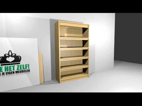 Maak Zelf Een Steigerhouten Boekenkast! Doe Het Zelf! - YouTube