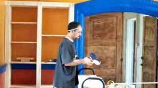 Jim Finishes Bookcase Construction