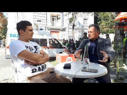 TVgolosnaroda: Балашов и Филимоненко в оцепленном правительственном квартале Киева. Вокруг Саакашвили