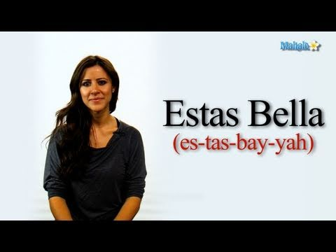 how to say youre beautiful in spanish