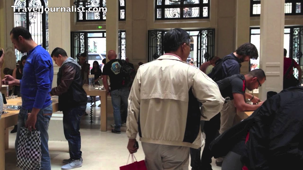 Apple Store Opera Paris France   YouTube Apple Store Opera Paris France