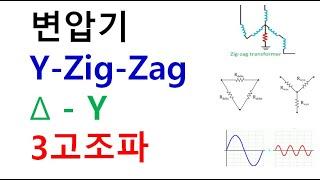 Y-Zig-Zag(지그재그)결선 델타결선시 변압기 2차…