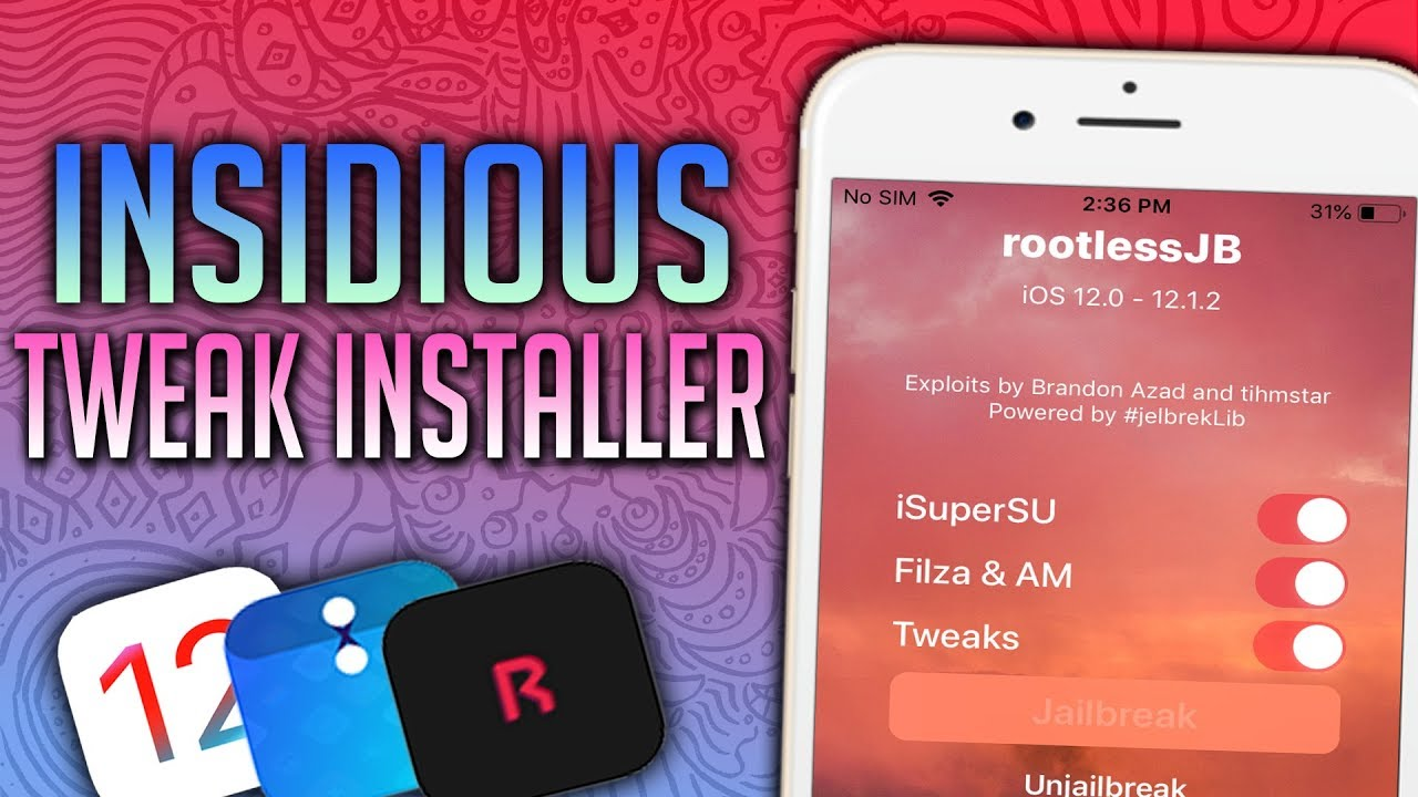 NEW! How To Install Tweaks On Rootless Jailbreak! Super Easy! Great On iOS  12 Insidious Installer!