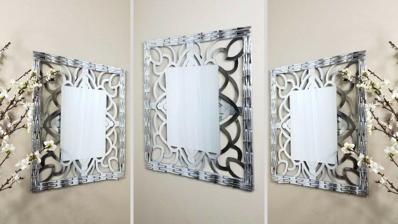 Diy Wall Mirror Wall Decor Using Household Items Simple