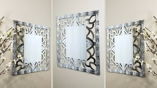 Diy Wall Mirror| Wall Decor Using Household Items! Simple and Inexpensive!