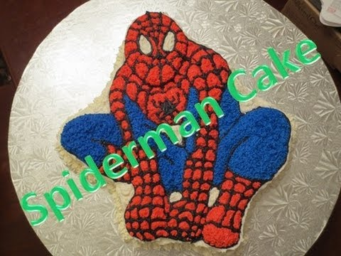 Spiderman Cake Wilton Character Shaped Pan Youtube