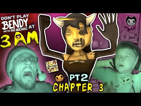 DON'T PLAY BENDY & THE INK MACHINE @ 3AM! CHAPTER 3 Alice Angel is SCARY! FGTEEV Haunted House (Pt2)