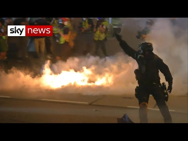 Tear gas fired as Hong Kong protesters vow to 'keep fighting'