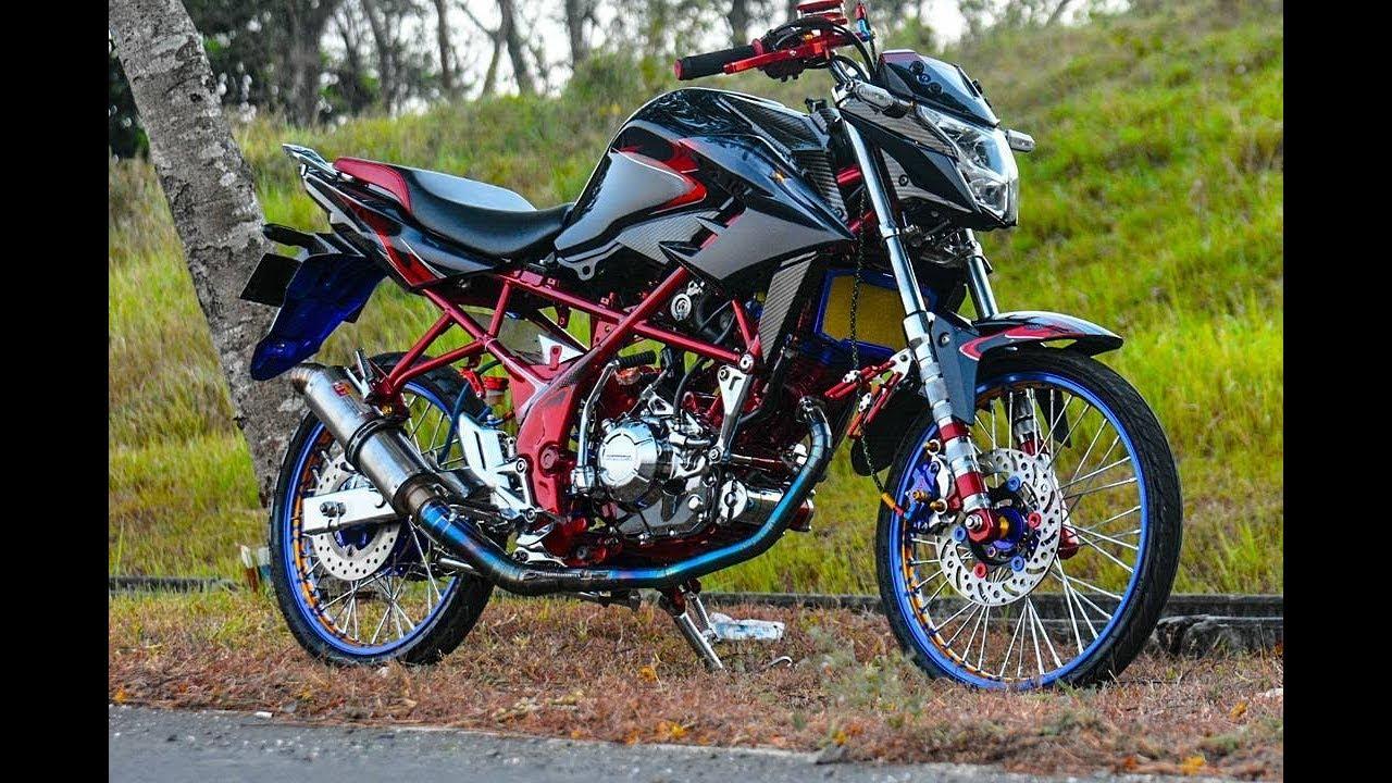 All New Cb150r Warna Krem Modifikasi Street Racing Harian By