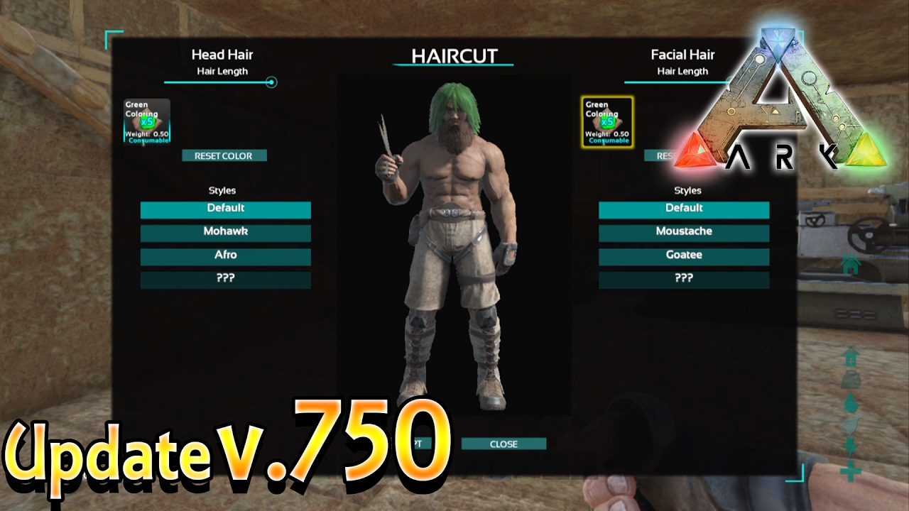 ARK Xbox One - New Update v10 - How To Cut & Dye Hair - Hair Growth &  Third Person Information