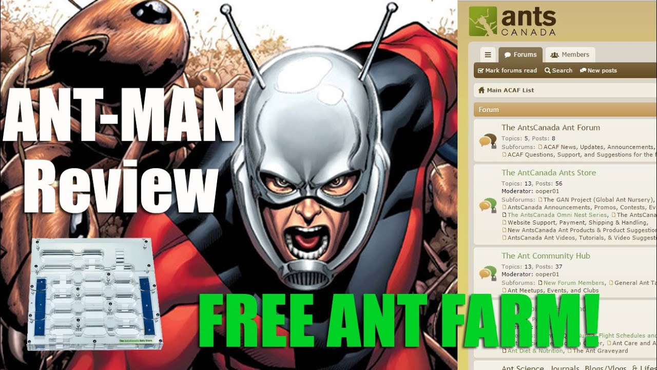 Ant-Man Movie Review | FREE Omni Nest Giveaway Deadline Aug 3rd | New Ant Forum