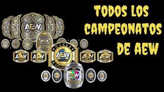 Todos los campeonatos de AEW (2019-2020)