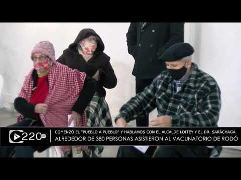 Alrededor de 380 personas asistieron al vacunatorio móvil de Rodó