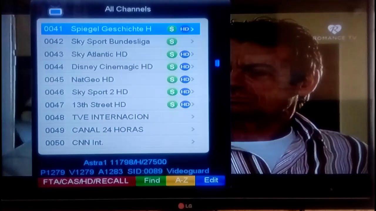 Astra1 19 2E starsat sr 2000hd extreme all channels list work forever server